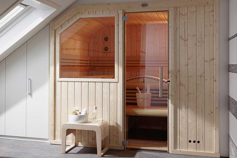 Sauna für die Dachschräge